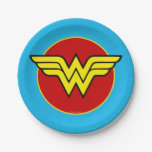 Dc Comics | Wonder Woman Logo | Happy Birthday Paper Plate at Zazzle