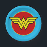 "DC Comics | Wonder Woman Logo | Happy Birthday Paper Plate<br><div class=""desc"">This colorful nod to the iconic Diana Prince will appeal to comic book fans all over the world. These must-have accessories for a superhero themed birthday party have been officially designed by DC Comics. Featuring Wonder Woman&#39;s classic shield, these girly paper plates will unleash the inner Amazon goddess in your...</div>"