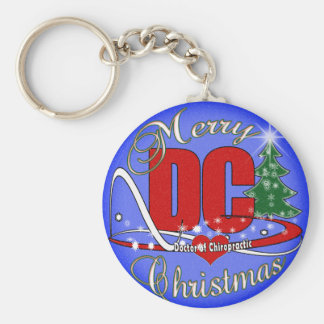 DC - DOCTOR of CHIROPRACTIC CHRISTMAS ORNAMENT Keychain