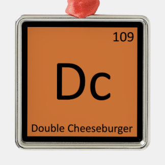 Dc - Double Cheeseburger Chemistry Symbol Christmas Ornaments