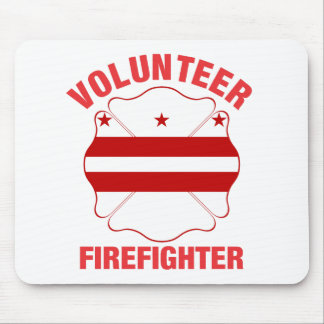 DC Flag Volunteer Firefighter Cross Mouse Pad
