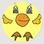 DC- Funny Chicken Cartoon Sticker