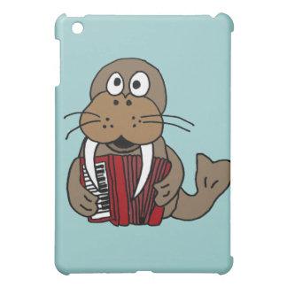 DC- Funny Walrus Playing Accordion Cartoon Case For The iPad Mini