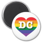 DC Gay Pride Rainbow Heart - Big Love Magnet