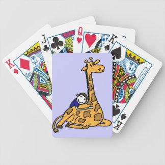 DC- Giraffe Love Playing Cards