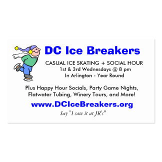 DC Ice Breakers JR's Bar Card Business Cards