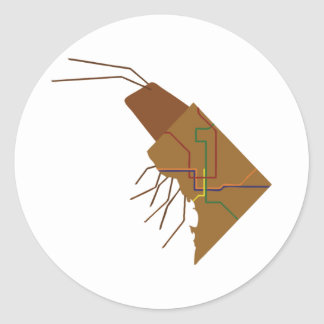 DC Insect Classic Round Sticker