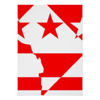 DC Inverted - Borders Poster