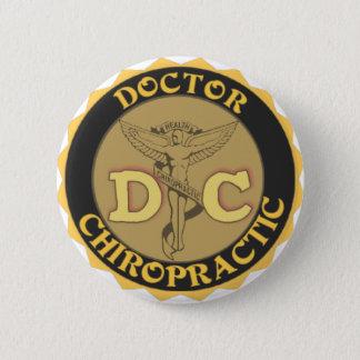 DC LOGO - DOCTOR CHIROPRACTIC CADUCEUS BUTTON