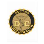DC LOGO - DOCTOR CHIROPRACTIC CADUCEUS POSTCARD