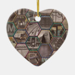 DC Metro Double-Sided Heart Ceramic Christmas Ornament
