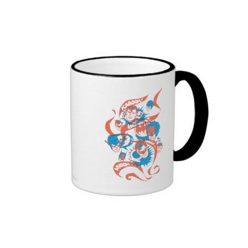 DC Originals - Logo Burst Ringer Coffee Mug