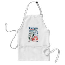 dc comics, spaced out, batgirl, wonder woman, fighting crime in the streets, power, strength, supergirl, super girl, Apron with custom graphic design