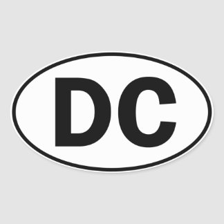 DC Oval ID Oval Sticker
