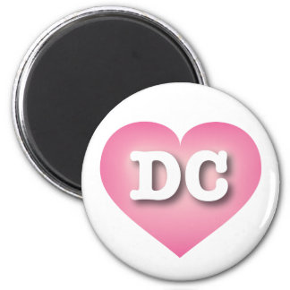 DC Pink Fade Heart - Big Love 2 Inch Round Magnet