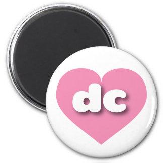 dc pink heart - mini love 2 inch round magnet