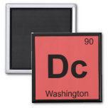 DC - símbolo de la tabla periódica de la química d Imanes De Nevera