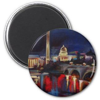 DC Skyline Fridge Magnet