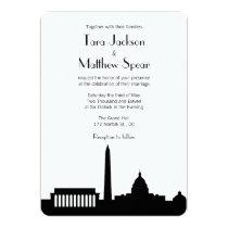 "DC Skyline Wedding Invitation 5"" X 7"" Invitation Card"
