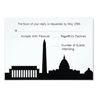 DC Skyline Wedding RSVP Cards