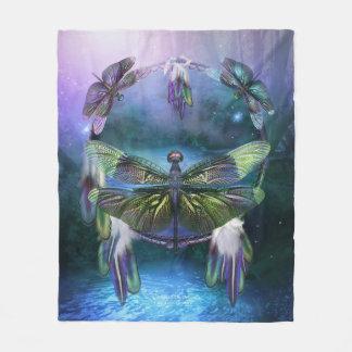 DC_Spirit Of The Dragonfly Art Fleece Blanket