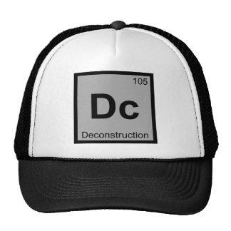 DC - tabla periódica de la química del Gorras De Camionero
