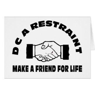 DC una Restricción-Fabricación un amigo para la vi Tarjeta De Felicitación