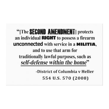 Lawyer Themed DC v Heller Second Amendment Case Law Canvas Print