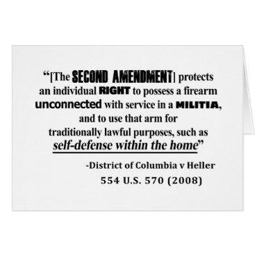 Lawyer Themed DC v Heller Second Amendment Case Law Card