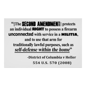 Lawyer Themed DC v Heller Second Amendment Case Law Poster