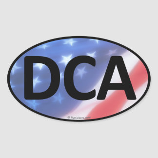 DCA Oval Sticker