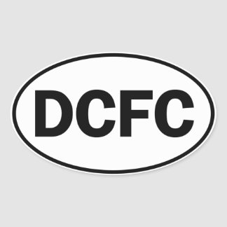 DCFC Oval ID Oval Sticker