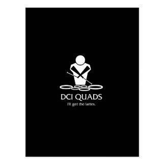 DCI QUADS - I'll get the lattes Postcard