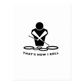 DCI QUADS - That's How I Roll Postcard