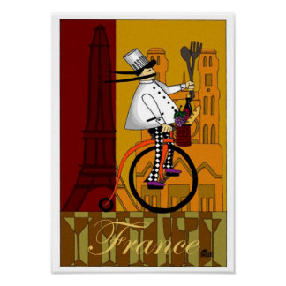 DD086 CHEF IN FRANCE POSTERS