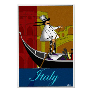 DD099 CHEF IN ITALY POSTER