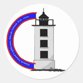 DD116 DUTCH ISLAND LIGHTHOUSE, RHODE ISLAND CLASSIC ROUND STICKER