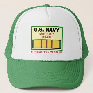 DD-498 PHILIP VIETNAM WAR VET TRUCKER HAT