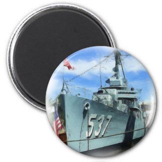 DD-537 USS The Sullivans 2 Inch Round Magnet