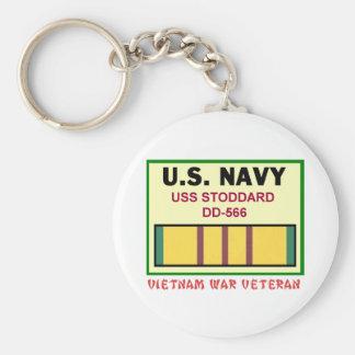 DD-566 STODDARD VIETNAM WAR VET KEYCHAIN