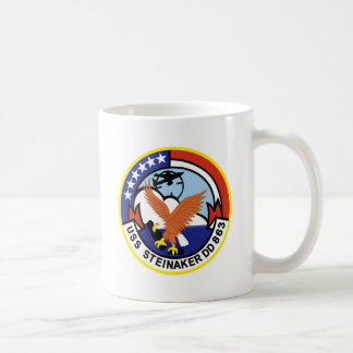 DD-863 USS STEINAKER Destroyer Ship Military Coffee Mug