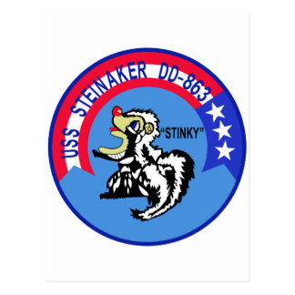 DD-863 USS STEINAKER Destroyer Ship Military Postcard