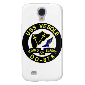DD-878 USS VESOLE Destroyer Ship Military Patch Samsung S4 Case