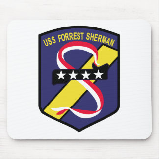 DD-931 B USS FORREST SHERMAN Destroyer Patch Mouse Pad