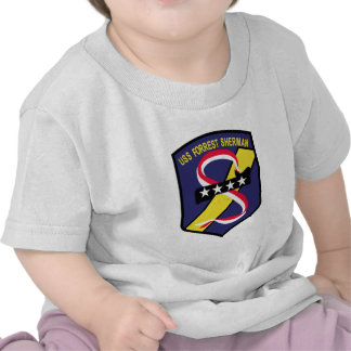 DD-931 B USS FORREST SHERMAN Destroyer Patch Tee Shirts