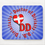DD CIRCULAR ACRONYM LOGO DOCTOR OF DIVINITY MOUSE PAD