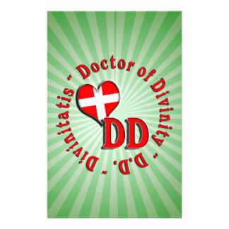 DD CIRCULAR ACRONYM LOGO DOCTOR OF DIVINITY STATIONERY PAPER
