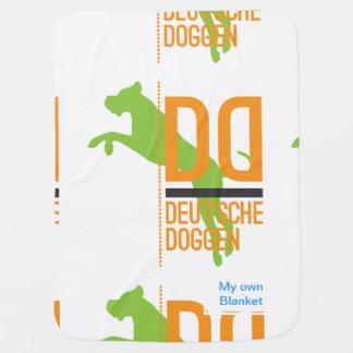 DD Deutsche Doggen Receiving Blanket