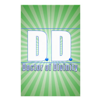 DD Doctor of Divinity Acronym LOGO Stationery Paper