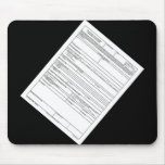 DD Form 1494 Mouse Pad